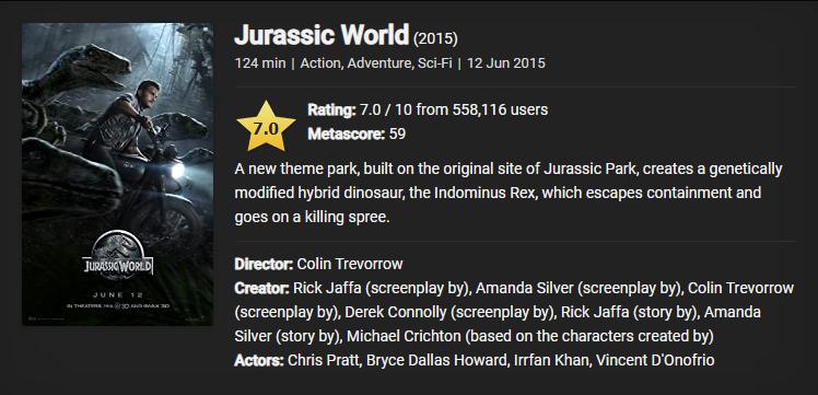 Download Jurassic World (2015)  480p [350MB] || 720p [950MB]